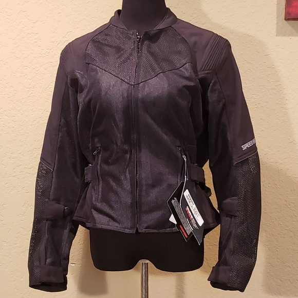 VARIOUS SIZES /& COLOR SPEED /& STRENGTH SINFULLY SWEET WOMENS MESH RIDING JACKET